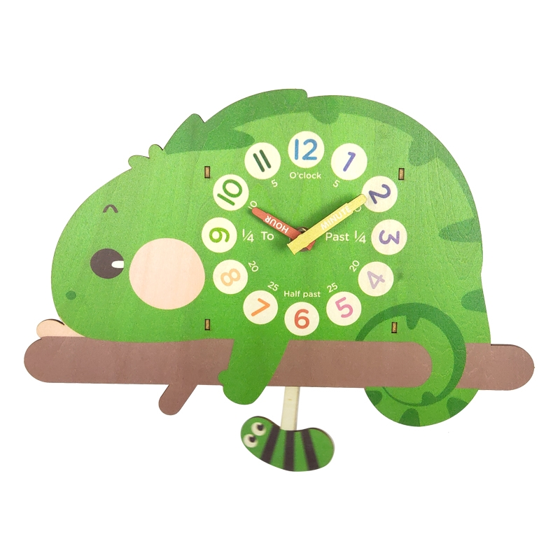 Cute Lizard Kids Education Clock Decoration Wall Clock