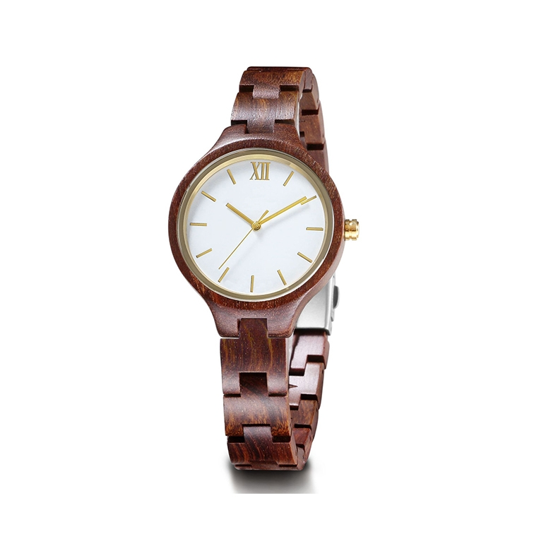 Hot Selling Watches Made in China Wooden Strap with Stainless Steel Oem Skeleton Watches for Men and Women