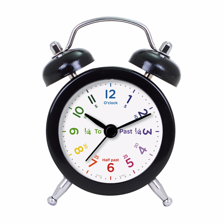 Pretty Cute Learning Time Clock Face Design Alarm Clock