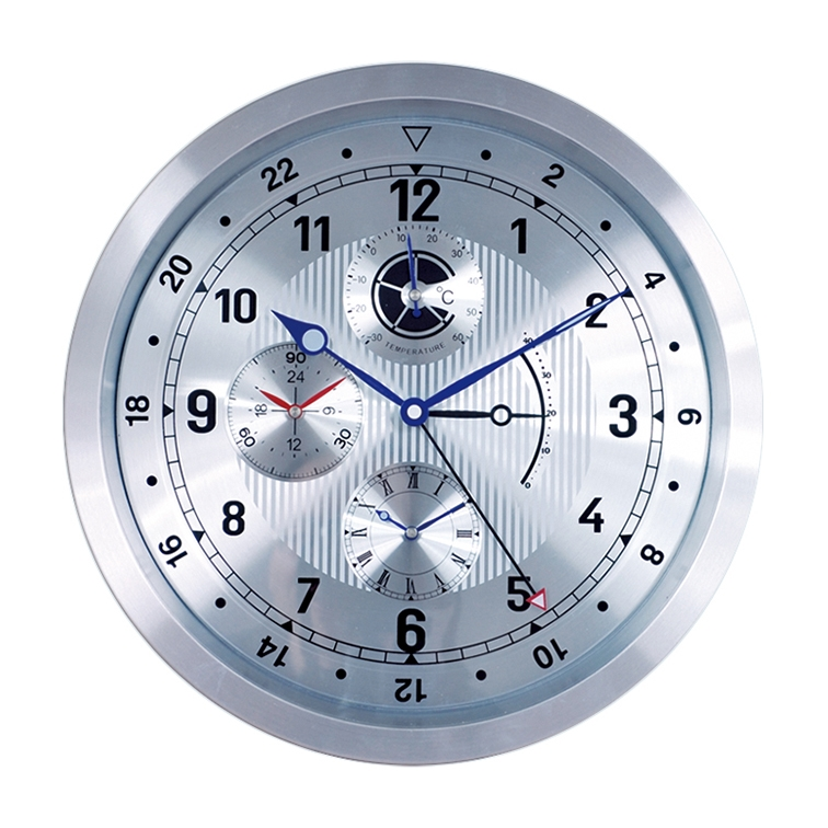 Home Decoration Aluminium Metal Wall Clock