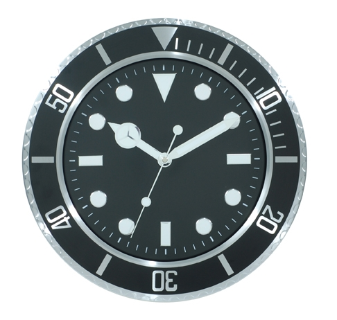 Cheap metal watch wall clock with luminous hands