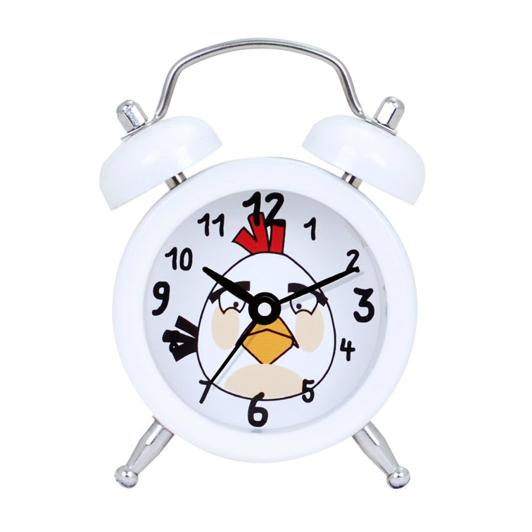 White Simple Travel Digital Alarm Clock for Children